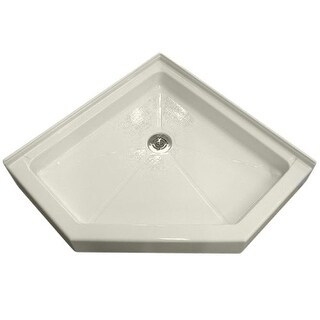 """American Standard 4242.NEO Neo Angle 42"""" X 42"""" Reinforced Acrylic Shower Pan - Triple Threshold - with Rear Drain"""
