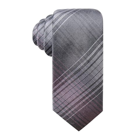 Ryan Seacrest Men's Ionic Plaid Slim Silk Tie Pink Size Regular