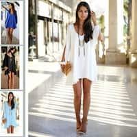 Women Sexy Long Sleeve Mini Dress