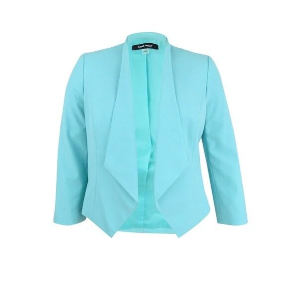 5ac97d28f1096 Shop Nine West Women's Plus Size Draped Blazer - Free Shipping Today ...