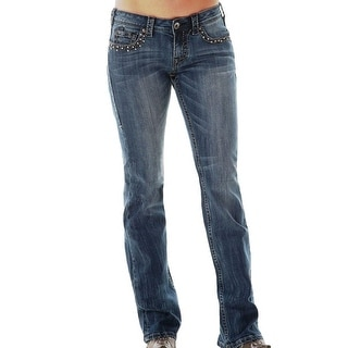 Cowgirl Tuff Western Denim Jeans Womens Extreme Studs Med JESTUD