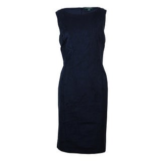 Lauren Ralph Lauren Women's Sleeveless Faux Suede Sheath Dress