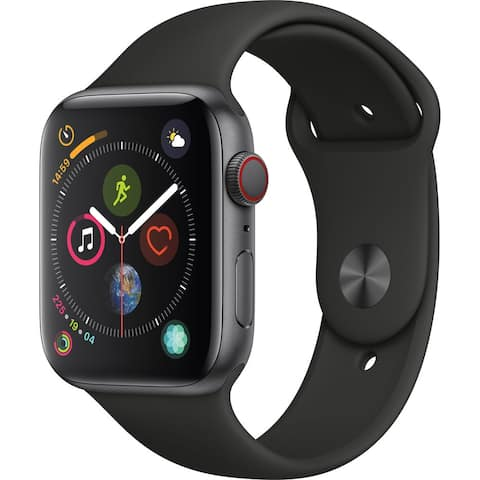 Apple Watch Series 4 (GPS & 4G, 44mm, Space Gray/Black) (Refurbished) - 44mm