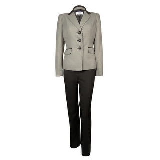 Le Suit Women's 2PC Tuscany Houndstooth Pant Suit