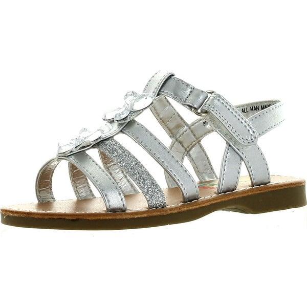 Rachel Girls Fallon Fashion Sandals - White Patent - 8 m us toddler