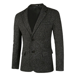 Link to Men Classic Blazer Casual Sport Coat - Black White Melange Similar Items in Sportcoats & Blazers