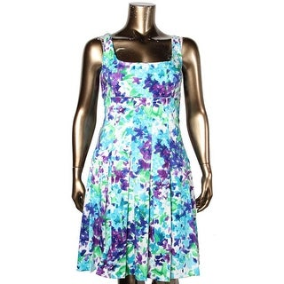 Lauren Ralph Lauren Womens Casual Dress Floral Print Pleated - 16