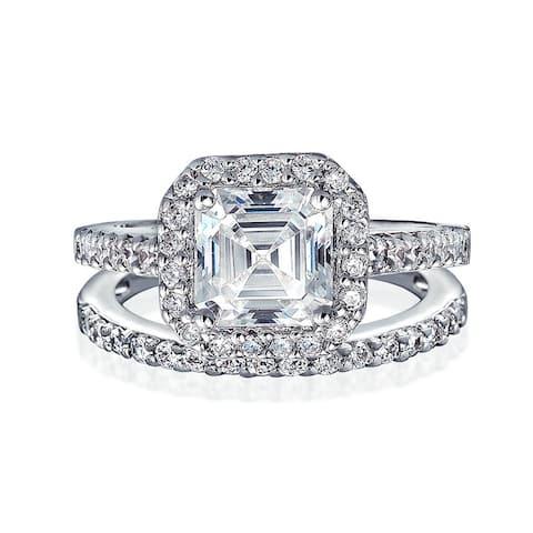 0460970f3d0ee Buy Asscher Cubic Zirconia Rings Online at Overstock | Our Best ...