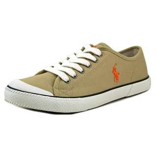 Polo Ralph Lauren Harold Youth Round Toe Canvas Tan Sneakers