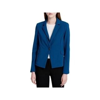 Calvin Klein Womens Blazer Single Button Closure Long Sleeves