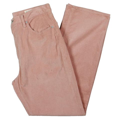 Rag & Bone Womens Ruth Jeans Coduroy Super High Rise - Pink