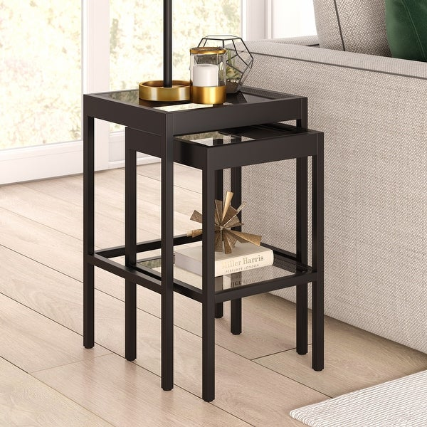Alexis Blackened Bronze Nested Tables