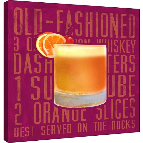 """PTM Images 9-100031 PTM Canvas Collection 12"""" x 12"""" - """"Old Fashioned (Square)"""" Giclee Liquor & Cocktails Art Print on Canvas"""
