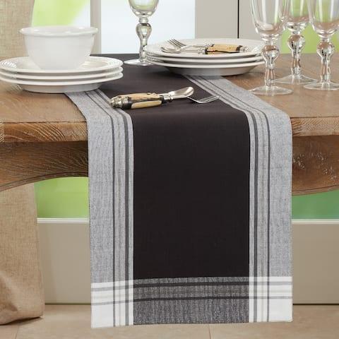 Long Table Runner With Stripe Border Design