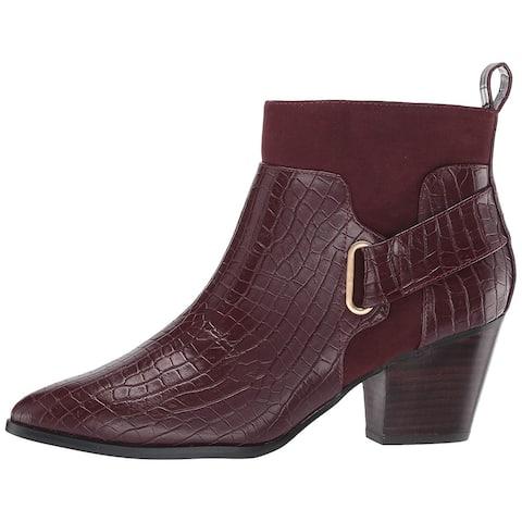 Bella Vita Women's Shoes Elektra 2 Crocodile Pointed Toe Ankle Fashion Boots