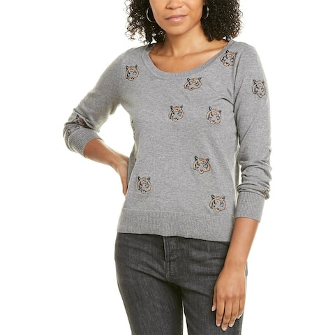 Chaser Tiny Tigers Cashmere-Blend Sweater