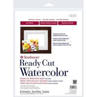"""6 Sheets - Strathmore Watercolor Paper Pack 11""""X14"""""""