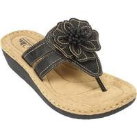 Cliffs by White Mountain Women's Carnation Black Synthetic