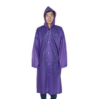Outdoor Travel EVA Portable Rainwear Button Closure Raincoat Rain Poncho Purple