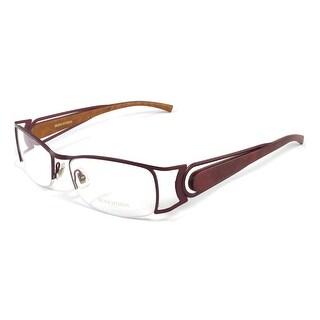 Boucheron Unisex Curved Rectangular Eyeglasses Purple/Gold - Black - S