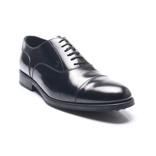 Tod's Men's Leather Lace-Up Oxford Shoes Black
