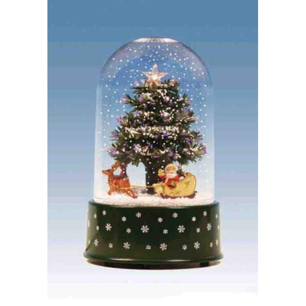"11.75"" Pre-Lit Musical and Animated Christmas Tree Snow Globe Glitterdome"