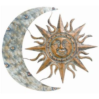 "Gardman 8415 Aztec Sun And Moon Wall Art, 26"" Long X 24"" Wide"
