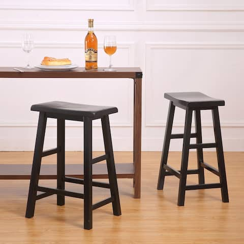 """Cain 24"""" Counter Height Saddle Stool, set of 2 - N/A"""