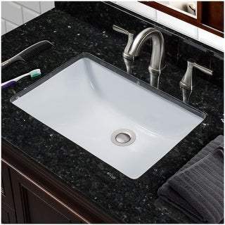 """Miseno MNO1812RU 18-3/4"""" Undermount Bathroom Sink with Overflow (Mounting Clips Included) - White - n/a"""