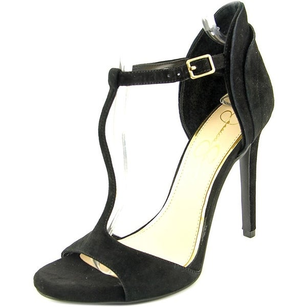 Jessica Simpson Womens Rayanna Suede Open Toe Ankle Wrap D-orsay Pumps