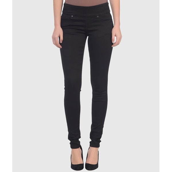 Lola Anna-BLK, Mid rise Pull On Skinny Jeans