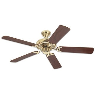 """Westinghouse 78021 Contractor's Choice Ceiling Fan, 52"""", Polished Brass"""