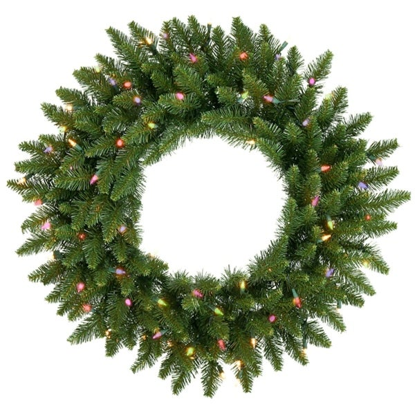 Shop Pre-Lit Camdon Fir Artificial Christmas Wreath - 48 ...