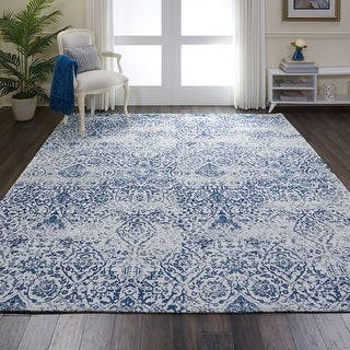 Link to Nourison Damask Distressed Contemporary Area Rug Similar Items in Rugs
