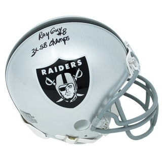 Ray Guy Raiders Riddell Mini Helmet W3x SB Champs