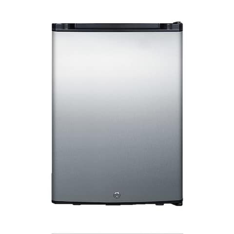 "Summit MB26 16"" Wide 1.1 Cu. Ft. Compact Refrigerator with Locking - Stainless Steel"