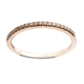 Brand New Round Brilliant Cut Real Brown Diamond Half Eternity Anniversary Ring.