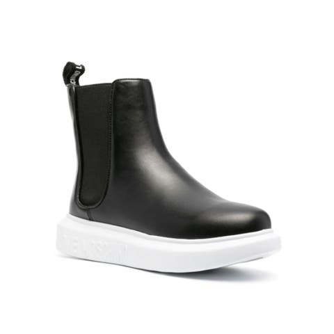 Love Moschino Women's Leather Chelsea Ankle Boots Black