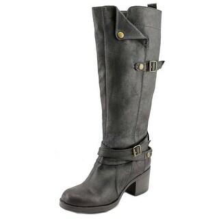 Mia Sabato Round Toe Synthetic Knee High Boot