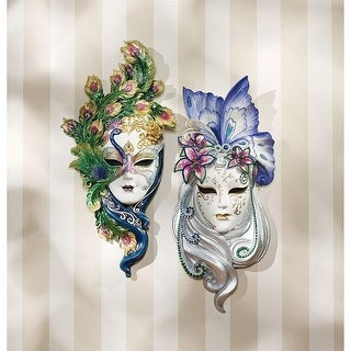 Design Toscano Mask of Venice Wall Sculpture: PeacockButterfly Masks