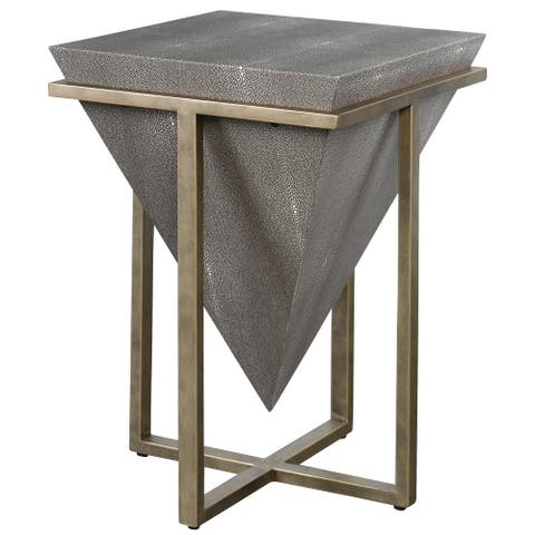 Uttermost Bertrand Shagreen Accent Table
