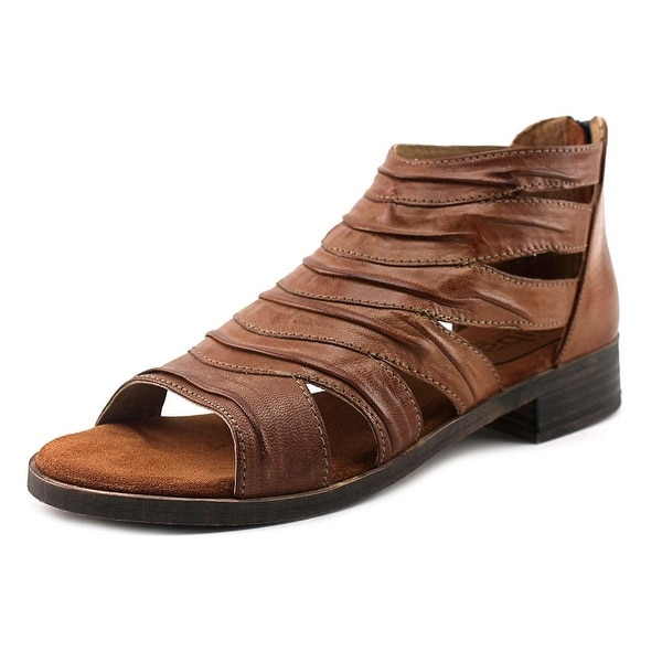 Diba Dreamer Women Open Toe Leather Brown Gladiator Sandal