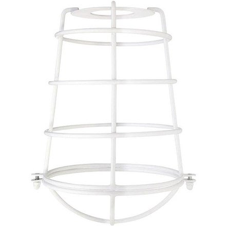Westinghouse 85034 Cylindrical Open Bottom Cage Shade, White