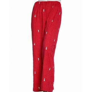 HUE NEW Red Snowman Print Women's XL Lounge Pants Sleepwear Pajama
