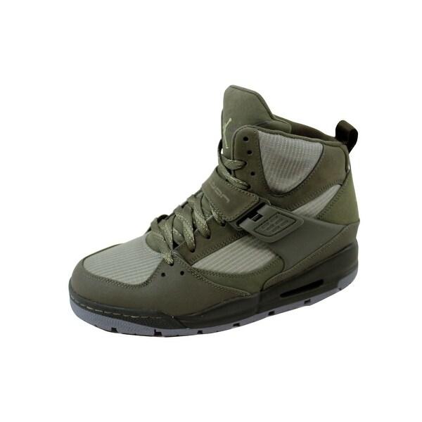 Men's Air Jordan Flight 45 Trek Cargo Khaki/Rogue Green 467927-306 Shoe