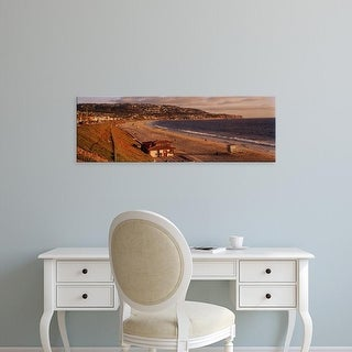 Easy Art Prints Panoramic Images's 'View of a coastline, Redondo Beach, Los Angeles County, California' Canvas Art