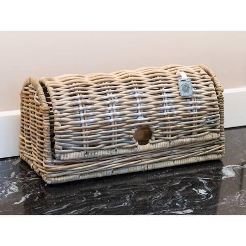 Key Largo Natural Grey Kubu Rattan Bread Box
