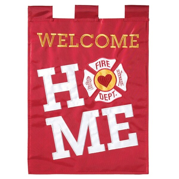 """Red and White """"WELCOME HOME"""" Rectangular Garden Flag 18"""" x 13"""" - N/A"""