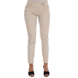 Ermanno Scervino Beige Slim Jeans Corduroy Skinny Pants