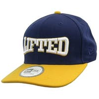 LRG New Era Lifted Mens Snapback Cap Hat Navy Blue & Gold High Crown